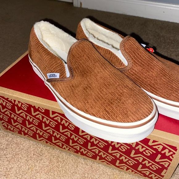 Madewell X Vans Fuzzy Corduroy Slipons